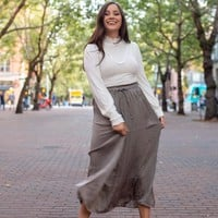 Pleats and Thank You Midi Skirt