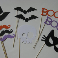 Photo Booth Props Halloween Props 10 piece by olivetreemonograms