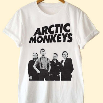 NEW Arctic Monkeys Logo clothing T Shirt Mens and T Shirt Girls customized