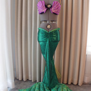 Ariel the Little Mermaid Green scales costume skirt only. Ready & Best Little Mermaid Adult Costume Products on Wanelo
