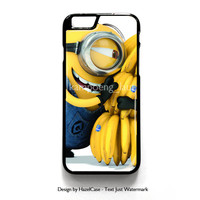 Minion Love Bananas for iPhone 4 4S 5 5S 5C 6 6 Plus , iPod Touch 4 5  , Samsung Galaxy S3 S4 S5 Note 3 Note 4 , and HTC One X M7 M8 Case Cover
