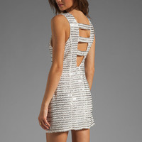 Parker Ivy Metal Zig Zag Dress