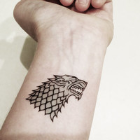 Game of Thrones - Stark Crest Temporary Tattoo