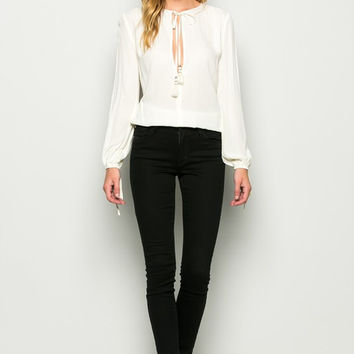 Copy of Key Heart Blouse - White