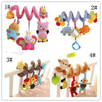 DCCKFS2 4 Styles Musical Car/bed/crib Hanging Bell Newborn Baby Educational  Rattles/Mobile toys for Baby 0-12 months Plush Product