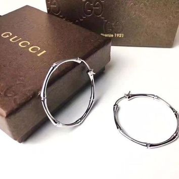 CREY3DS 2018 Trending Gucci S925 Sterling Silver Double C full drill Rhinestone Earring gold hoop stud drop Jewelry