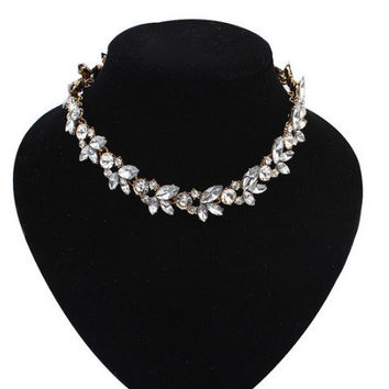 2015 Rhinestone Women Chokers Necklace New Arrival Necklaces Pendants Fashion Statement Necklace Jewelry Trends For Gift Party