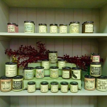 Natural Aromatherapy Soy Candles Variety
