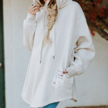 Better Days Oversized Hoodie Sweatshirt - Oatmeal