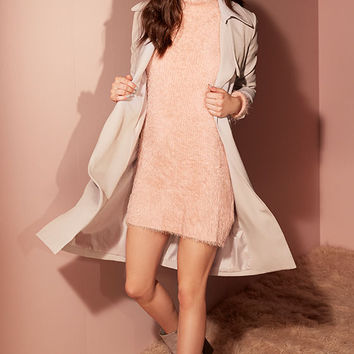 Mink Pink Soft Serve Blush Pink Sweater Dress