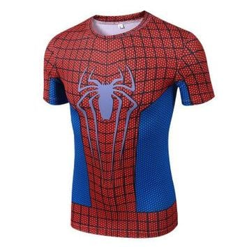 Anime T-shirt graphics 2018 Spiderman t shirt 3D Spider-Man Anime T-shirt Men Marvel Compression shirt fitness tshirt male clothes AT_56_4
