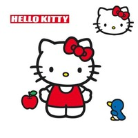 Hello Kitty Wall Accent Sanrio Classic Kitty Giant Decal