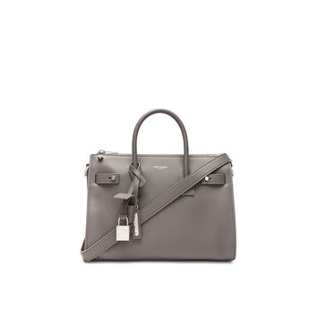 Saint Laurent Baby Zipped Supple Sac de Jour Duffel Bag in Fog | FWRD