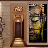 Buddha Limited Edition 3-Piece Wall Art Canvas