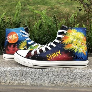 Wen High Top Hand Painted Athletic Shoes Serenity Firefly Night 28eb59f72233