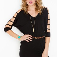 Strapped Dolman Dress
