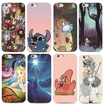 Ariel Tattooed Alice in Wonderland For iphone 4 4s 5 5s 6 6s 7 plus for Samsung s3 s4 s5 s6 s7 Edge Hard plastic phone case