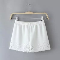 Lace Irregular Pants Women's Fashion Shorts [6034607809]