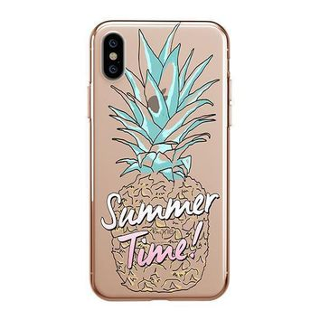 Summertime Pineapple - iPhone Clear Case