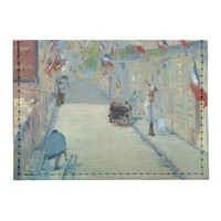 Rue Mosnier with Flags Manet Painting Card Wallet