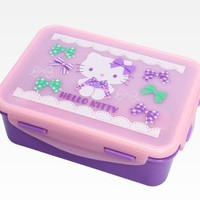 Hello Kitty Lunch Container: Purple Ribbon