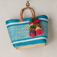 Cape Peninsula Tote by Mar y Sol Turquoise One Size Bags