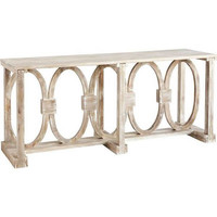 Curlin Wood Console Table