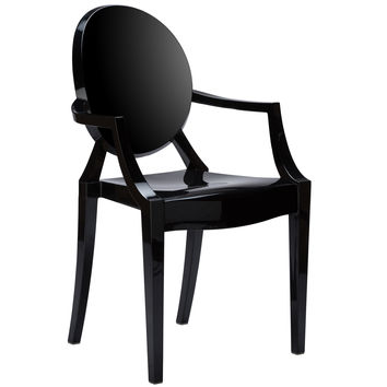 Burton Ghost Arm Chair In Black(Set of 2)