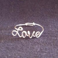 Sterling Silver Love Ring SPECIAL Discount PRICE by WireNameMike