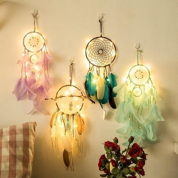 Fairy Lights led para celular Indian Dream Catcher Net Bedroom Wall Decor   Christmas novelty gifts Gifts For Children Women
