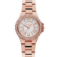 Michael Kors Women's Camille Rose Gold-Tone Stainless Steel Bracelet Watch 26mm MK3253