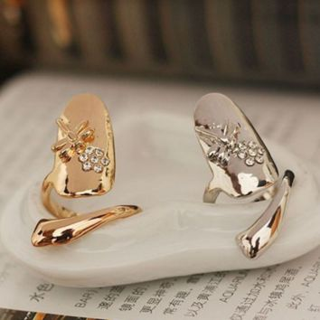 New fashion nail cover ring jewelry