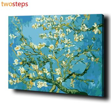 TwoSteps DIY Digital Canvas Oil Painting By Numbers Frameless Coloring By Numbers Large Acrylic Paint By Number Van Gogh Apricot