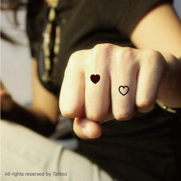 Small Heart ,Wedding Favor tattoo  temporary tattoo T283