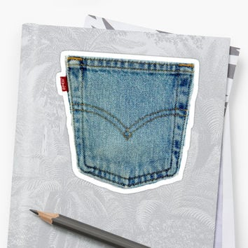 'Levi's Denim Jeans' Sticker by tiffanypizzi