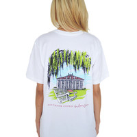 Southern Charm Tee in White by Lauren James