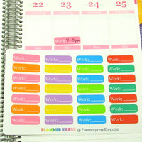 Daily Work Scheduled Times Planner Sticker for Erin Condren Life Planner (ECLP) Reminder Sticker