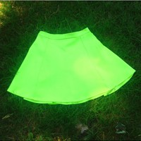 Neon Yellow Skirt- $55
