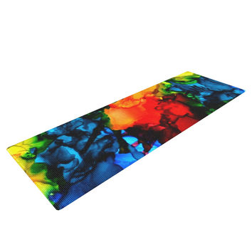 "Claire Day ""Family Photos III"" Blue Red Yoga Mat"