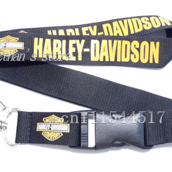 FREE SHIPPING Men Harley key lanyard car logo Racing Motorcycle id card neck strap