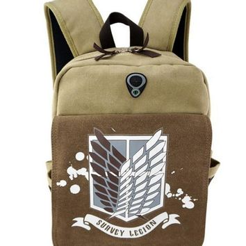 Cool Attack on Titan Anime  Backpacks Shoulder Bag Cool Children Rucksack Casual School Bag Bookbag For Teenage Girls Mochila AT_90_11