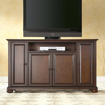 Vintage Mahogany Alexandria 60-Inch TV Stand By Crosley Furniture