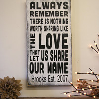 Always Remember There Was Nothing Like The Love Wood Sign Avett Brothers Pallet Sign Personalized Name Sign Wedding Gift Anniversary Gift