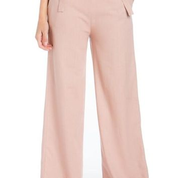 CASUAL SOLID LINEN PANT