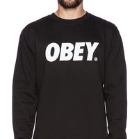 Obey Obey Font Basic Crew in Black