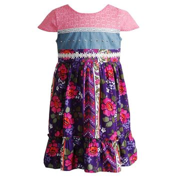 Youngland Flower Dress - Baby Girl, Size: