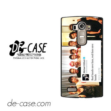 5sos And One Direction Fan Twit For LG G4 Case Phone Case Gift Present