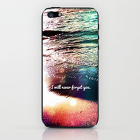 I will never forget you - for iphone iPhone & iPod Skin by Simone Morana Cyla