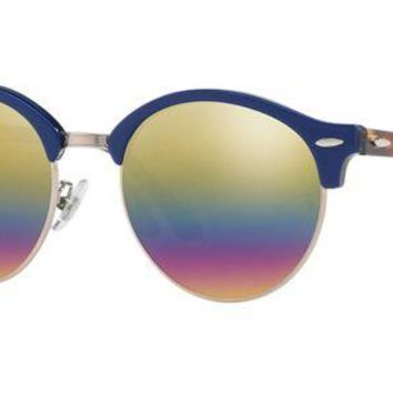 Gotopfashion Authentic RAY-BAN 4246F - 1223C4 Sunglasses Gold Rainbow Flash *NEW* 53mm
