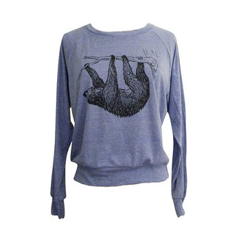 SLOTH Raglan Sweater - American Apparel SOFT vintage feel - Available in sizes S, M, L